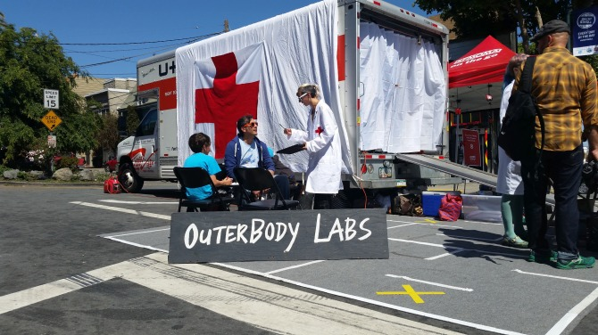 Outerbody Brain Virus Scanning Center at Sunday Streets