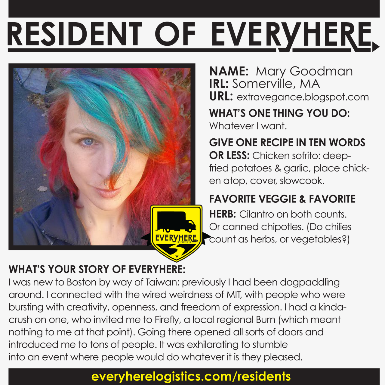 Resident of Everyhere - Mary Goodman