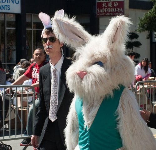 E.D.W Lynch protects the Easter Bunny
